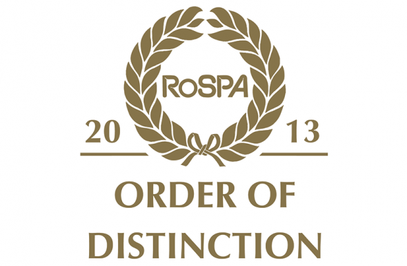 21st Gold Award from RoSPA
